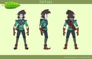 Zotah Character Turnaround by TheInsaneDingo