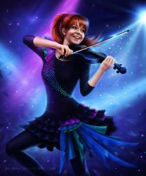 Magic of the violin ( Lindsey Stirling ) by By-Inna