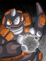 Rhyperior used Rock Wrecker