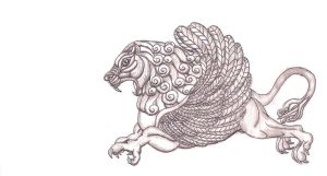 Winged Lion by Emissary4Penguins