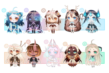 ADOPTS: 100 Adopt challenge 21-30 [1/10 OPEN] by Mewpyonadopts