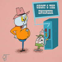 Ghost and The Engineer by DeeIsBrowsing