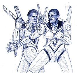Obama vs Romney by happylilsquirrel