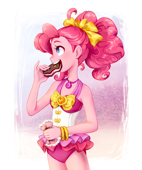Pinkie and ice cream by JumbleHorse