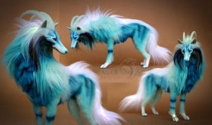 Glacier Ghost Wolf Room Guardian by AnyaBoz