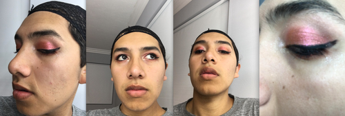 Practing red eye shadow by SadnessFemBoy2016