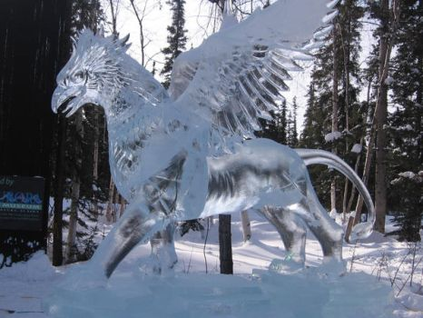 Ice Griffin by fairyhalo