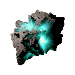 Asteroid Meteor Aqua | Transparent Space Stock by LapisDemon