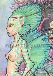 Imogen Mermaid ACEO by thedancingemu