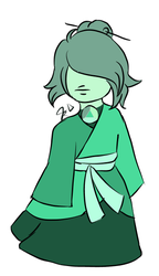 light  green  sapphire  for  StaceyU101 by Marionettecaramel