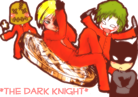 Batman with Arkhams by pink-snow