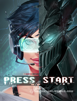 Press start by AonikaArt