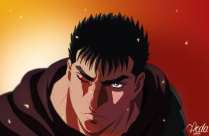 Guts The Black Swordsman by reda22