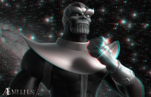 Thanos (anaglyph) by AEmiliusLives