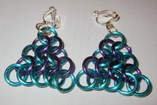 Chain Maille Earrings by KTHunter
