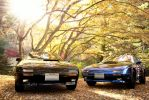 Black And Blue Mazda RX7 FC by NightmareRacer85
