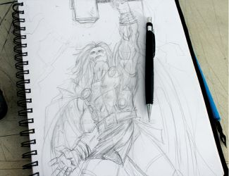 The Mighty Thor sketch by ralpestein