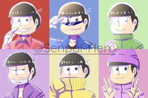 Six Same Faces Icons + Speedpaint by Senpai-Hero