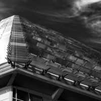 Stadium Window Shutters II BW by Pierre-Lagarde