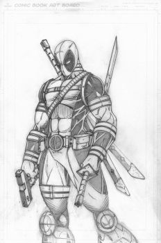 Deadpool-Pencils by CliffEngland