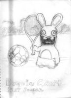 bunnies cant play soccer by juicethehedgehog