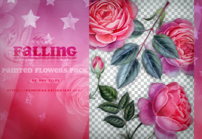 painted flowers pack / falling.png by RIOTBAB3