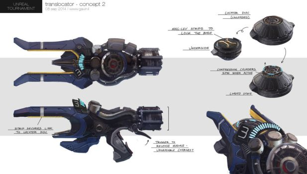 Unreal Tournament - Translocator Concept by gavinli