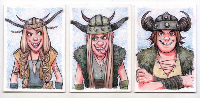 ACEO - HTTYD Set 2 by fusspot