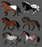 Semi-Natural Adopts #2 [OPEN 5/6] by horses0101