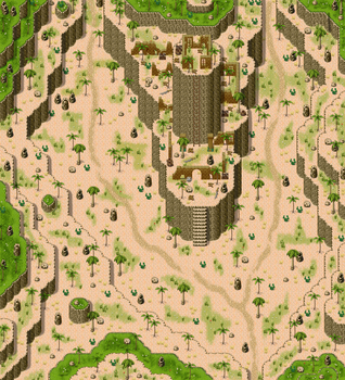 rpg maker desert tower and map by ChampGaming
