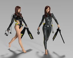 Jess Dive Suits by 666markofthebeast666