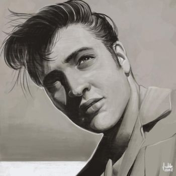 Daily Sketches Elvis Presley by fedde