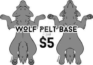 Wolf pelt base by Coywolfy