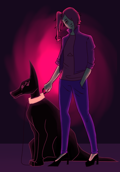 Just a Demon and her Shape-Shifting Dog by PmpknHeaad