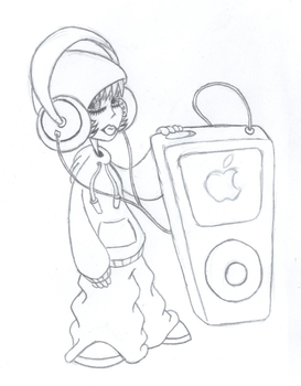 Tribute to my ipod by EmperorShadow