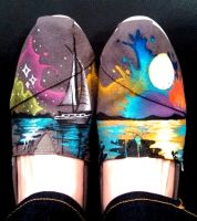 Nautical Painted TOMS shoes by Ceil