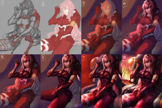 Zero Two (step by step) by artofkuzu