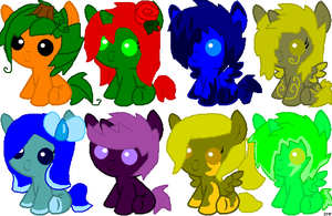 Pony Adopts Set 24 (SOLD OUT) by ShinySmeargle