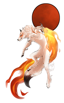 Okami fanart by Shatty-Wolfen