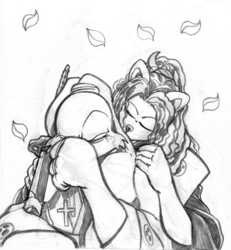 Usagi-Holy promise pencils by scribblesartist