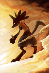 Orkekum Lucario Commission by shorty-antics-fanart