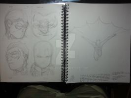 The Bat and the Birds pt1... the sketch by MrCHavoc