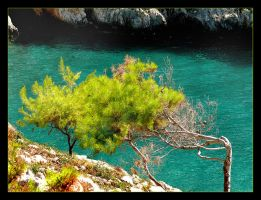 Over A Little Bay - Zakinthos by skarzynscy