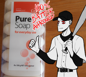 Batter-approved soap by Hogia