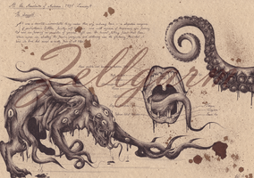 Anatomic Shoggoth - Lovecraft by Zellgarm