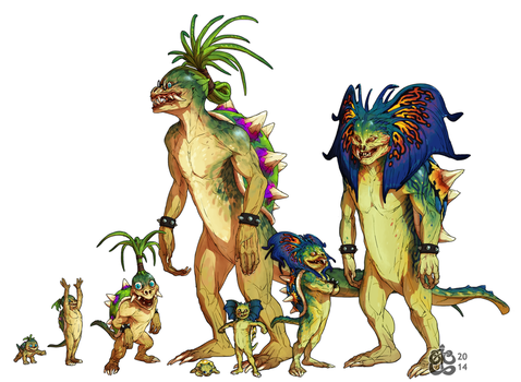 Giant turtle-beasts by manic-in-tricolour