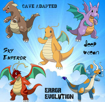 Dragonite Variations by OrialRegion