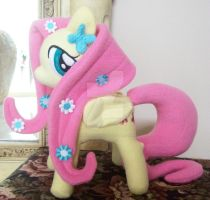 Fluttershy with Flowers Custom Plush by ponypassions