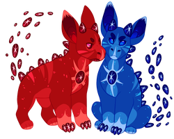 Gemigon Auction: Star Twins [CLOSED] by catdoq
