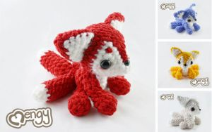 Kitsune Amigurumi Plushie by mengymenagerie